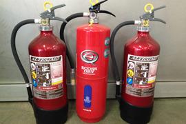 消防防火設備に充填