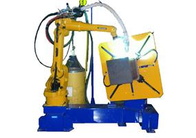 省スペース型溶接ロボット